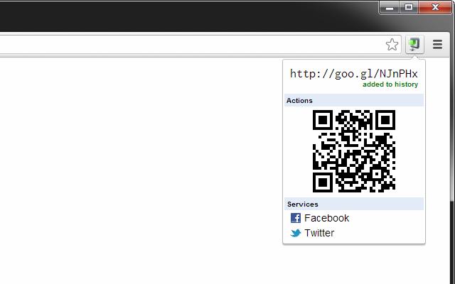 Extension pour raccourcir un lien ou le transformer en QR Code