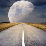 Illustration route droite vers la lune