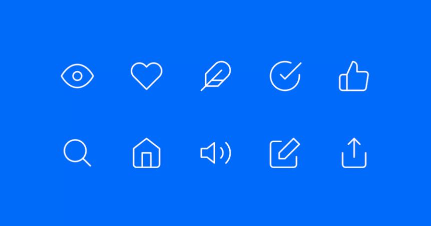 Exemple d'icônes
