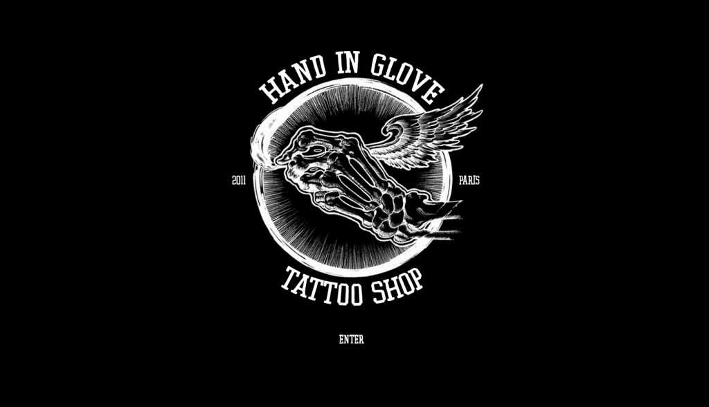 hang in glove tattoo