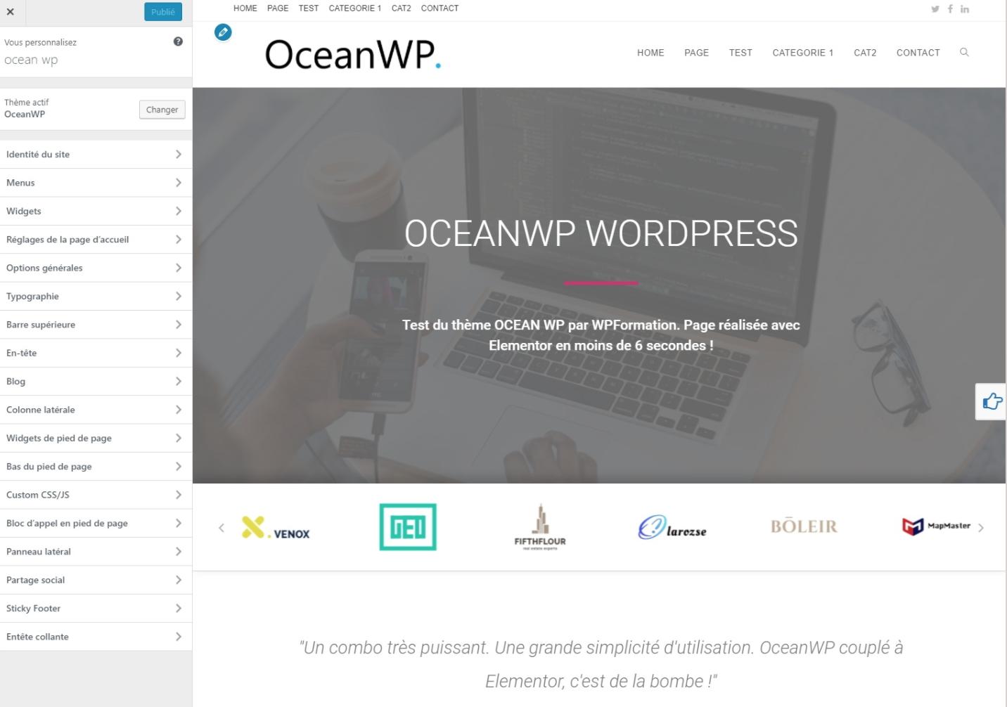 ocean wp   nouveau th u00e8me gratuit pour votre site wordpress